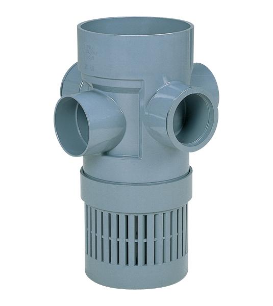 防臭雨水浸透マス 90°両側合流