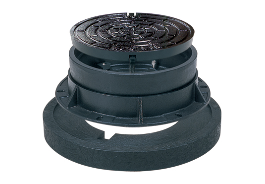 協会統一型・標準型・嵩上げ対応 バール穴閉塞ロック式・蓋裏蝶番付