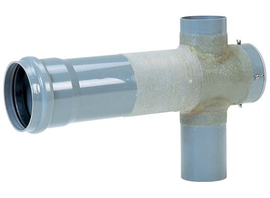 塩化ビニル管用内副管マンホール継手