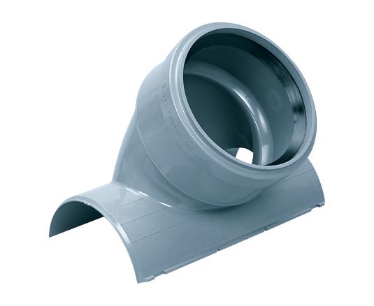 塩化ビニル管用コンパクト同径支管