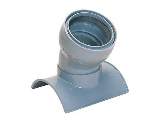塩化ビニル管用60°自在曲管支管