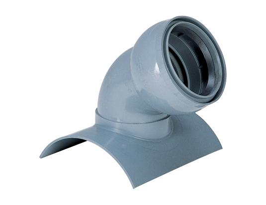 塩化ビニル管用30°自在曲管支管