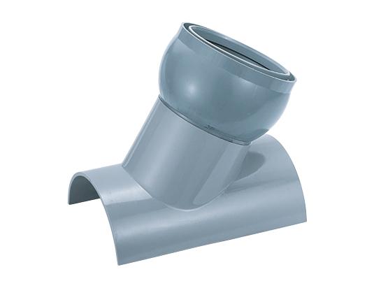 塩化ビニル管用管軸60°自在支管