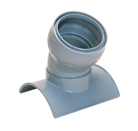 ヒューム管・陶管用60°自在曲管支管