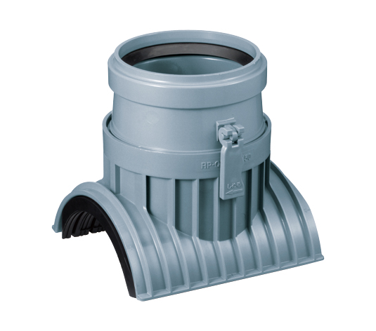 リブ付管用 回転固定式90度ゴム輪受口支管