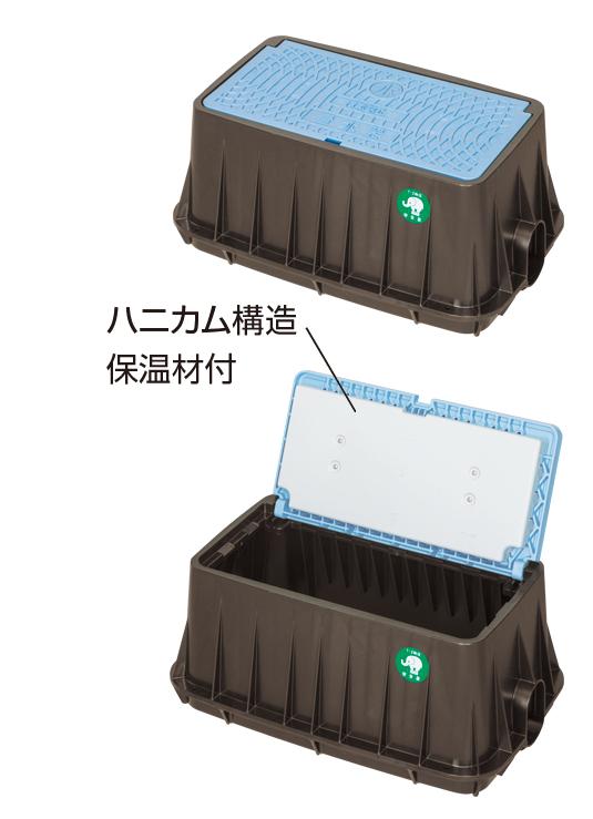 MCグリーン メーターボックス(一般型(耐寒蓋)、口径20mm)
